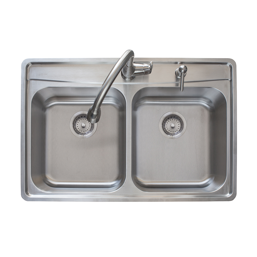 Franke Fast In 335 In X 225 In Stainless Steel Double Basin Drop
