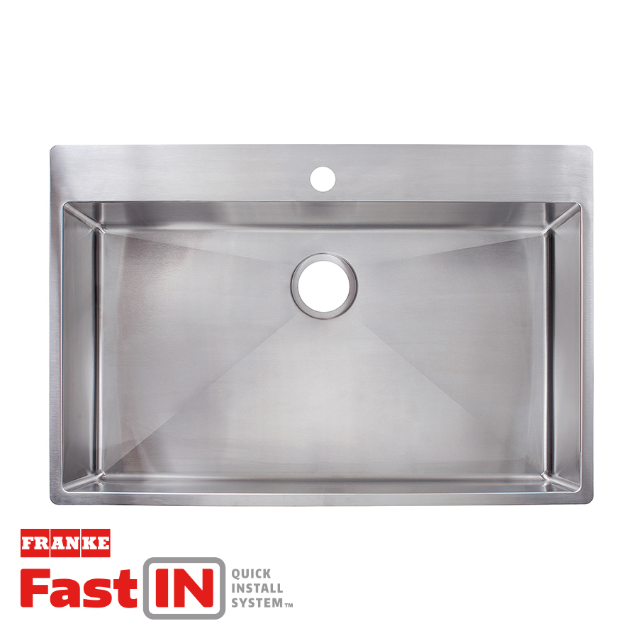 Franke Fast In 335 In X 225 In Stainless Steel Single Basin Drop