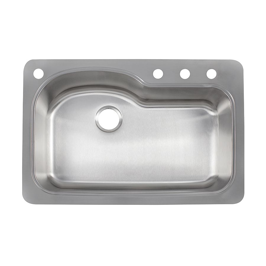 Franke Kinetic 33 In X 22 In Stainless Steel Single Basin Drop In Or