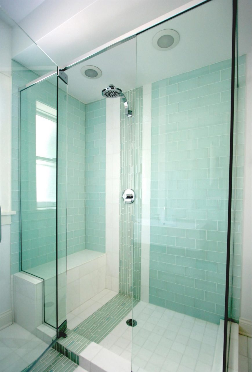 Frosted Sage Green Glass Subway Tile In 2019 Master Bath Shower