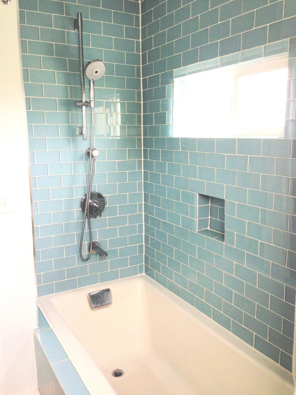 Glass Subway Tile Bathroom Ideas Lisaasmith