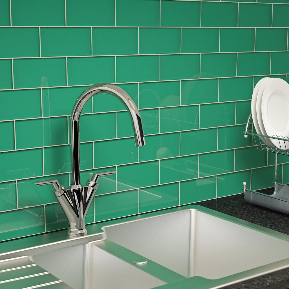 Glass Subway Tile Emerald Green 3 X 6 Piece Subway Tile