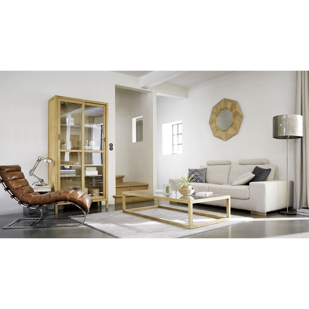 Gold Metal And White Marble Floor Lamp H 135 Cm Diana Maisons Du Monde