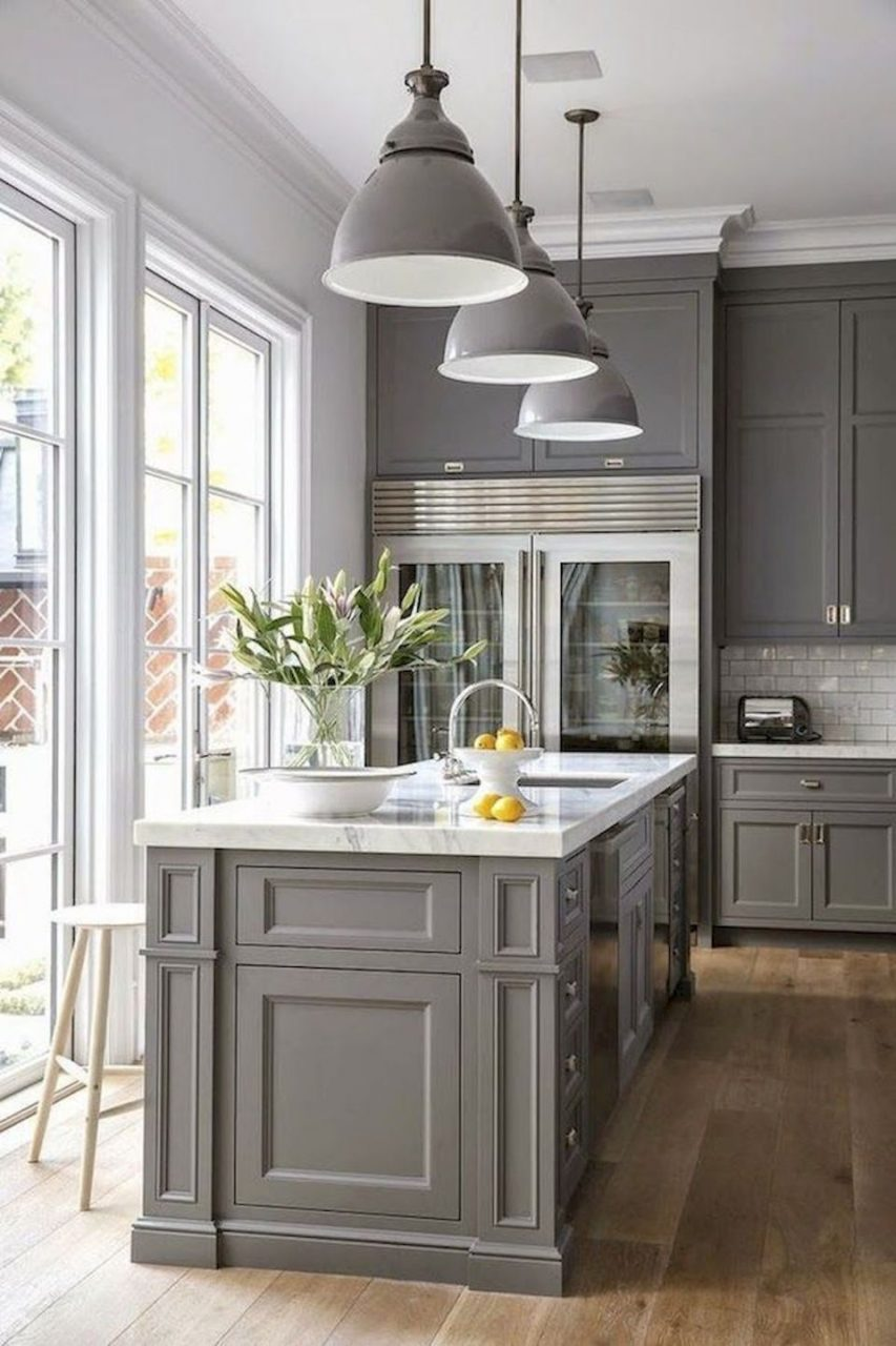 Gorgeous Farmhouse Gray Kitchen Cabinets Ideas 28 Kitchen