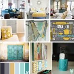 Yellow and Aqua Living Room