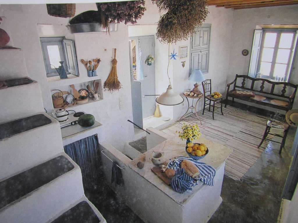 Greek Home 01 Kitchen And Living Greek Island Decor Greek