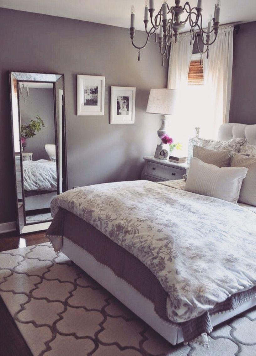 Grey Bedroom Soft Soothing Purple Tint Home 3 Bedroom Decor