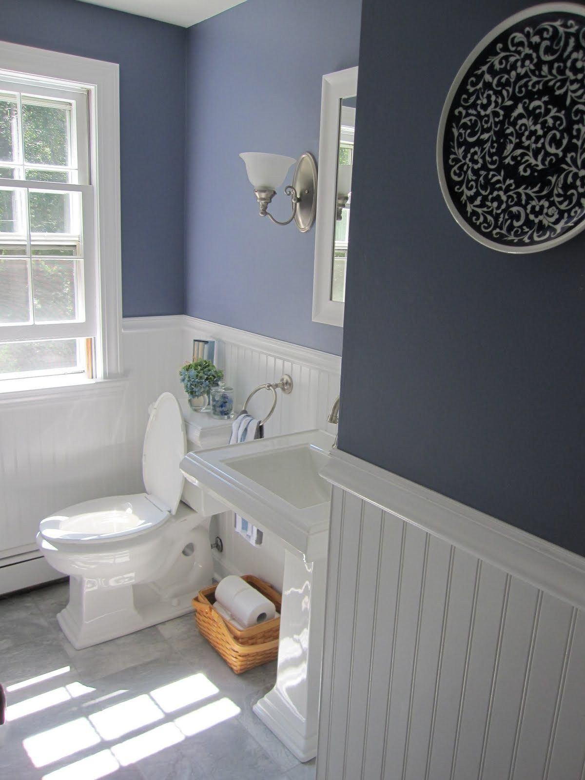 Half Bath Remodel With Beadboard Wainscoting Simple Beautiful Home
