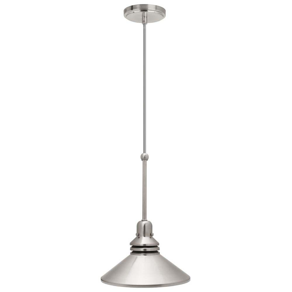 Hampton Bay 86 In 1 Light Brushed Nickel Pendant Track Lighting