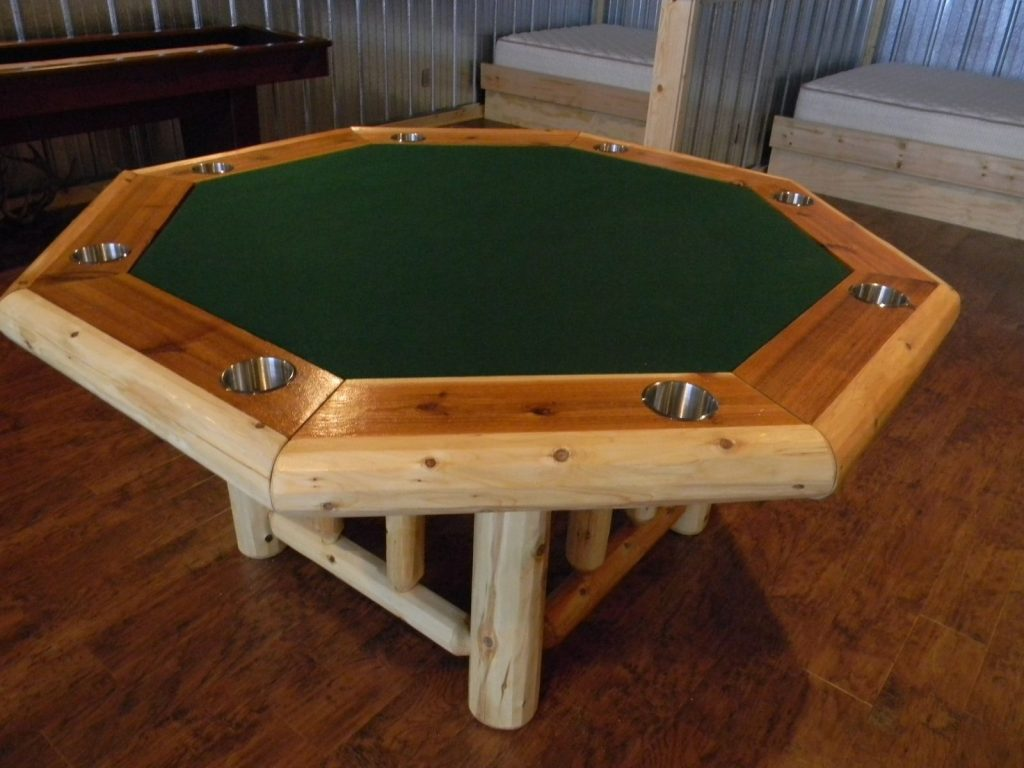 Hand Crafted Cedar Log Poker Table Backwoods Casual Custommade