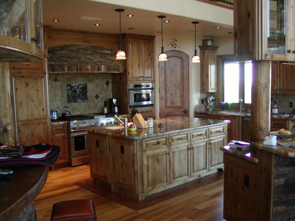 Hand Crafted Knotty Alder Custom Made Kitchen Cabinets Etc