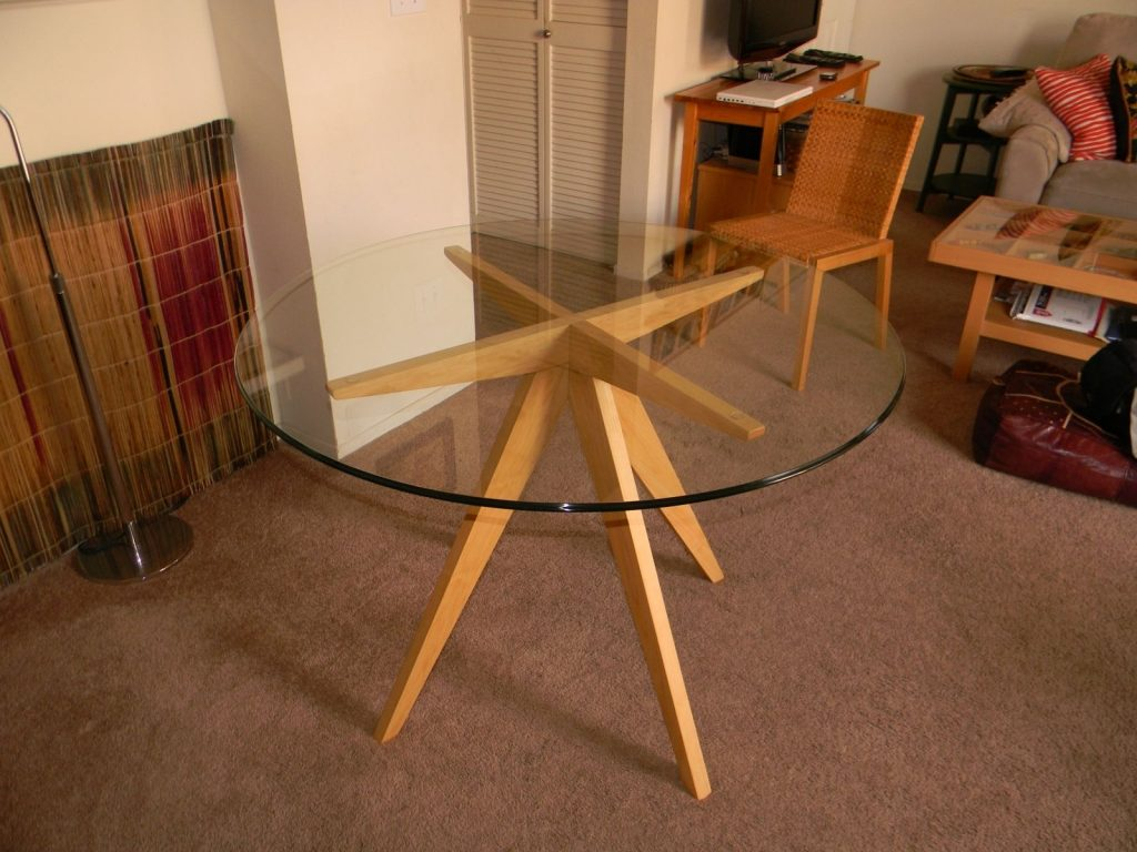 Hand Made Ibis Table Base For Glass Top Dining Table Antikea