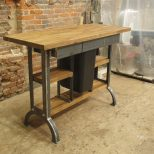 Hand Made Modern Industrial Kitchen Island Console Table