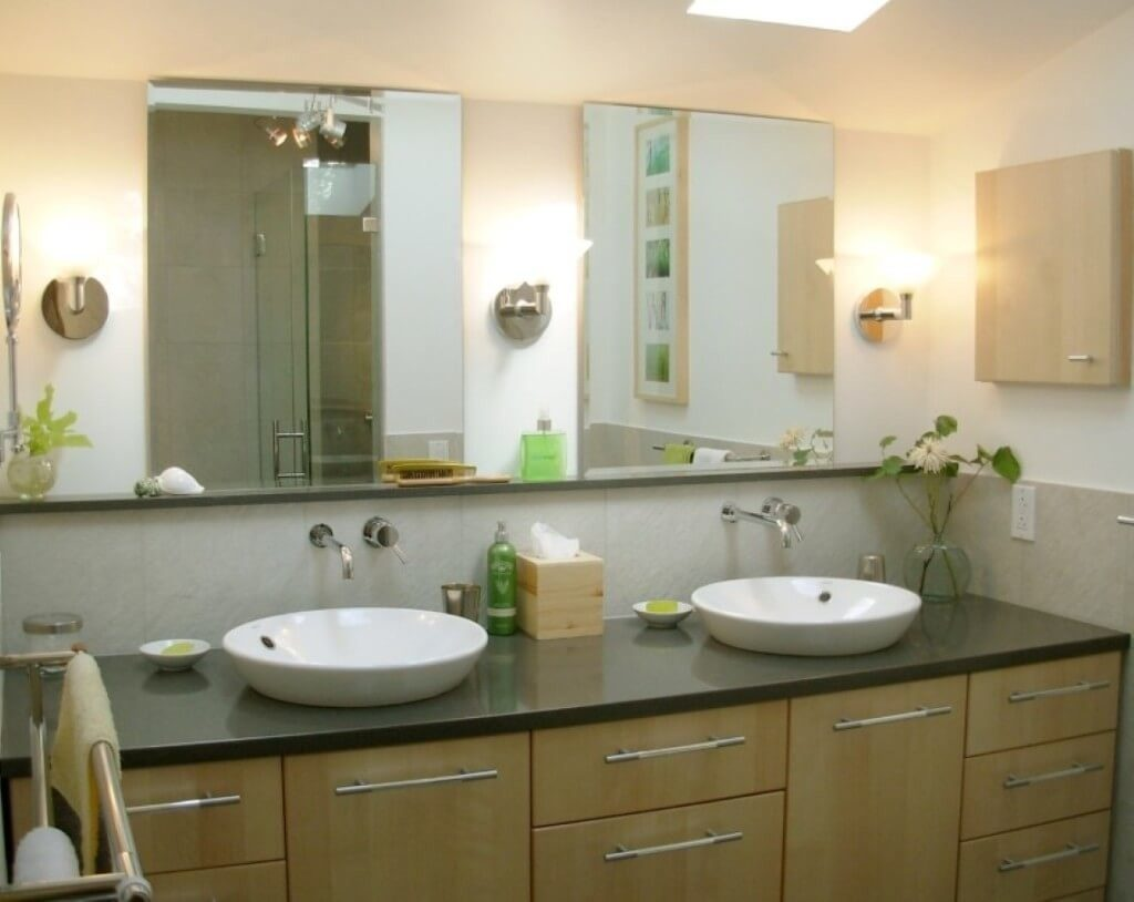 Home Decoration Fancy Double Frameless Bathroom Mirrors With