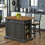 Home Styles Americana Grey Kitchen Island With Seating 5013 948