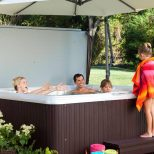 Hot Tub Platform Deck Backyard Design Ideas