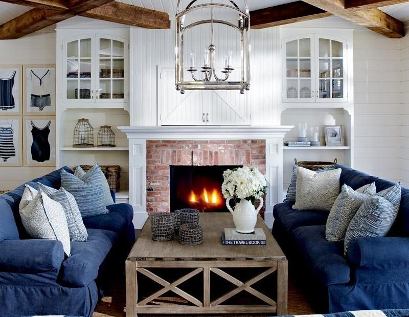 House Tour Coastal Style Cottage In 2019 Franklin Fireplace