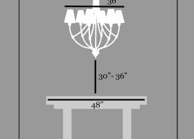 Height of Chandelier Over Dining Table