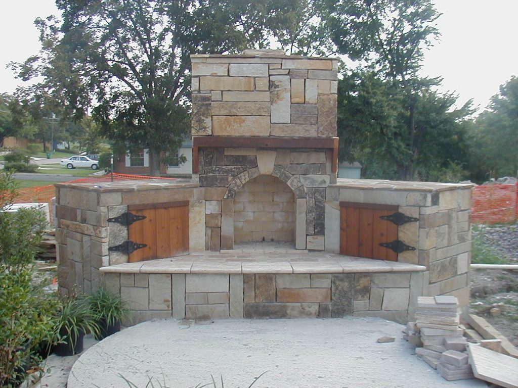How To Build An Outdoor Stone Fireplace Kscraftshack