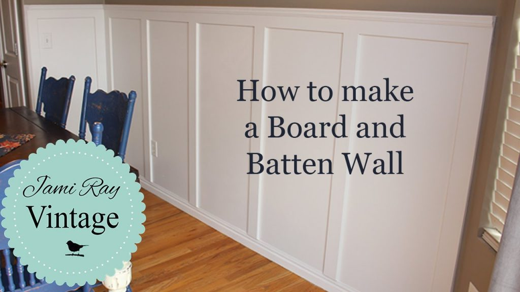 How To Do A Board And Batten Wall Youtube