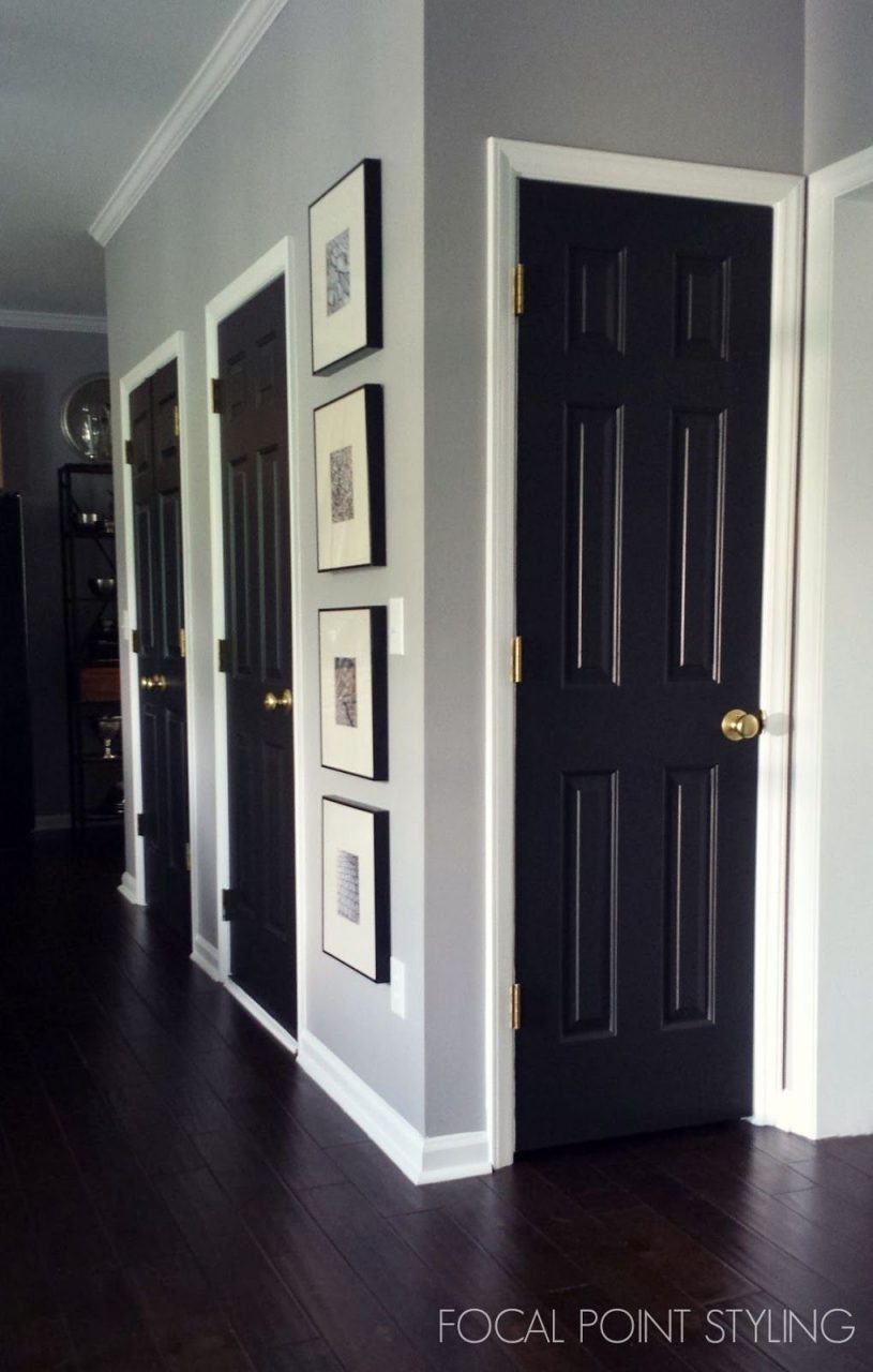 How To Paint Interior Doors Black Update Brass Hardware White