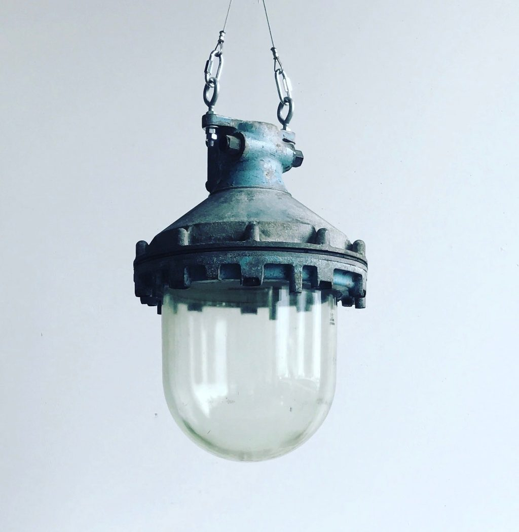 Huge Victor Vintage Industrial Explosion Proof Pendant Light