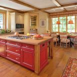 Idyllic Home Red Barn Wood Kitchen Cabinets Furniture Ideas Kitchen