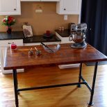 Industrial Kitchen Island Industrial Pipe Table Kitchen Prep Etsy
