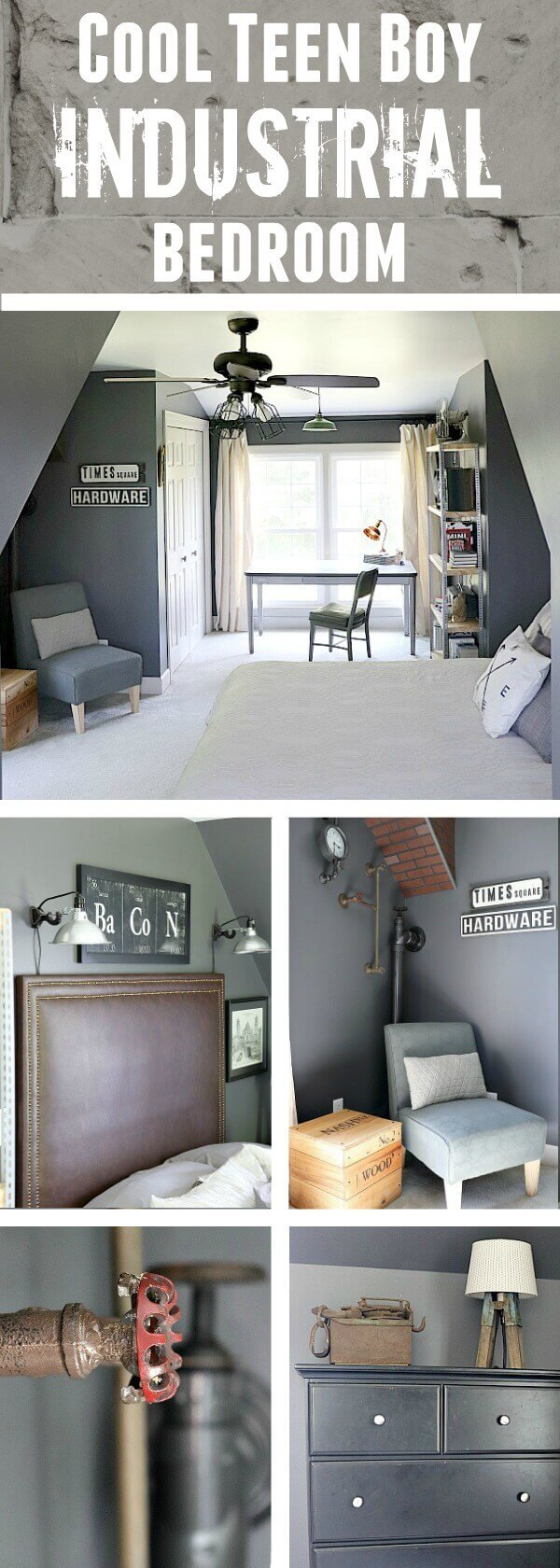 Industrial Teenage Bedroom Makeover On A Budget Orc Reveal Noting