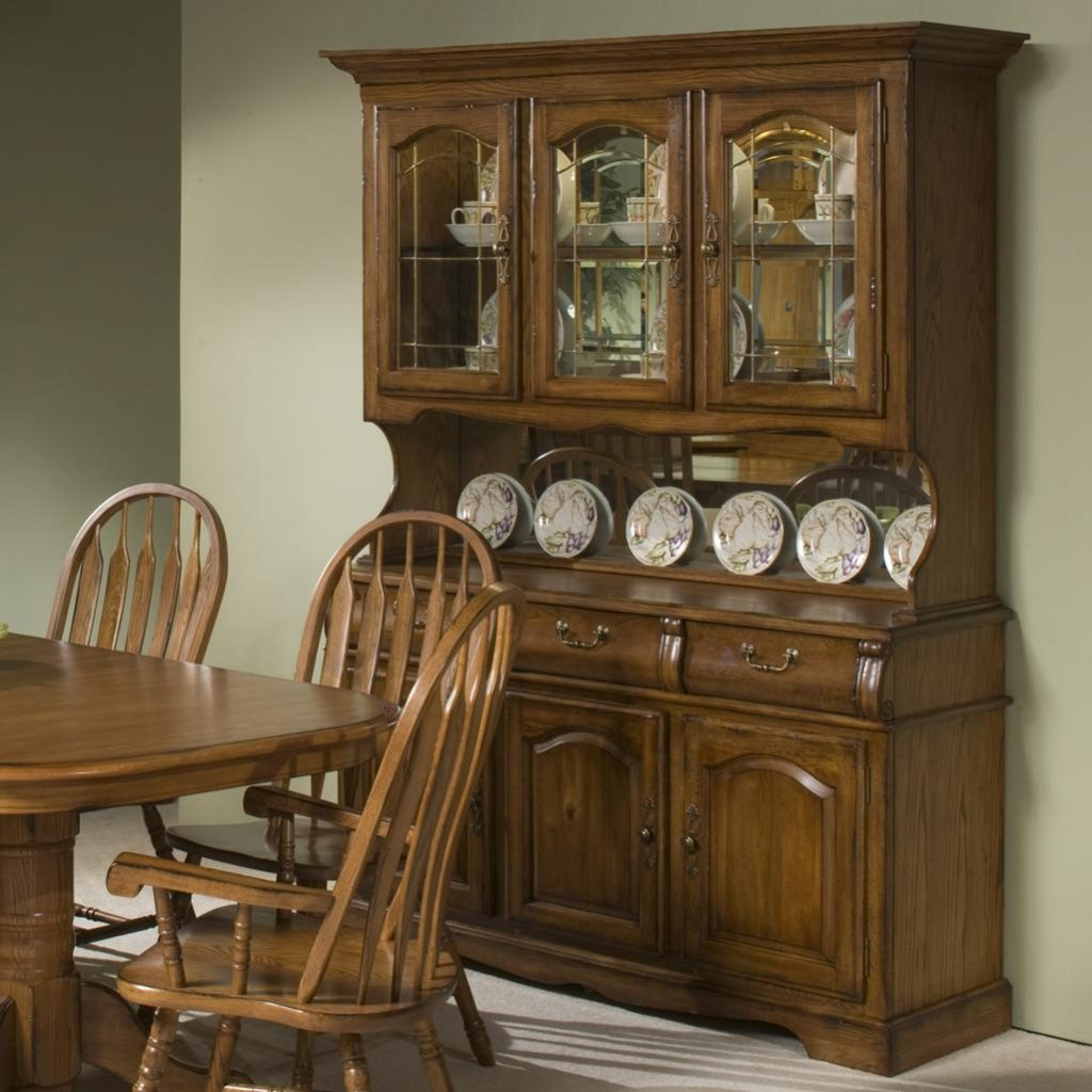 Intercon Classic Oak 60 China Hutch With Three Half Doors With