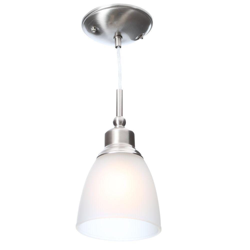 Interior Brushed Nickel Pendant Light With Edison Bulb Pendant And