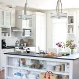 Kitchen Attractive White Kitchen Island Pendant Lights With Drum
