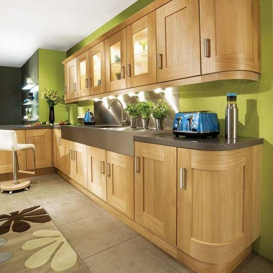 Kitchen Green Wall Colors Sage Kitchens With Oak Cabinets
