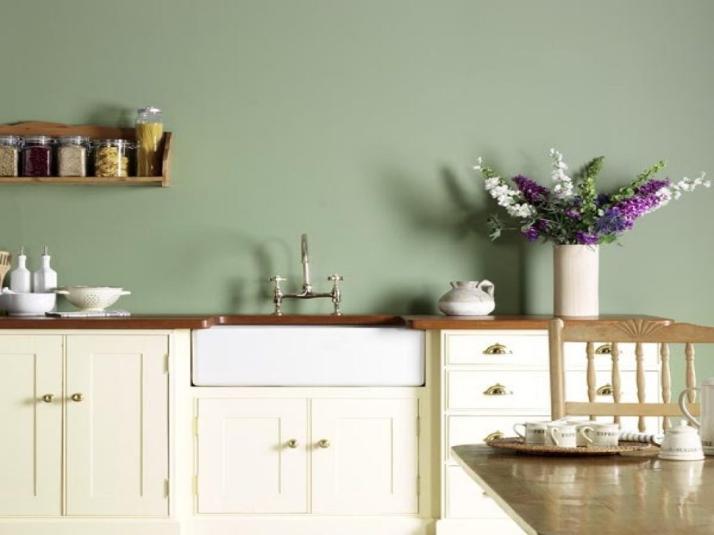Kitchen Grey Green Kitchens With Sage Walls Paint Benimmulku
