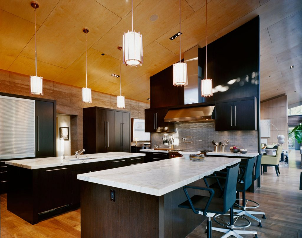 Kitchen Island Breakfast Bar Lighting Imposing Contemporary Home