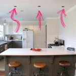 Kitchen Pendant Lights Over Peninsula