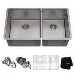 Kraus Standart Pro 33in 16 Gauge Undermount 6040 Double Bowl