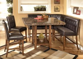 Ashley Pub Style Dining Room Table Set
