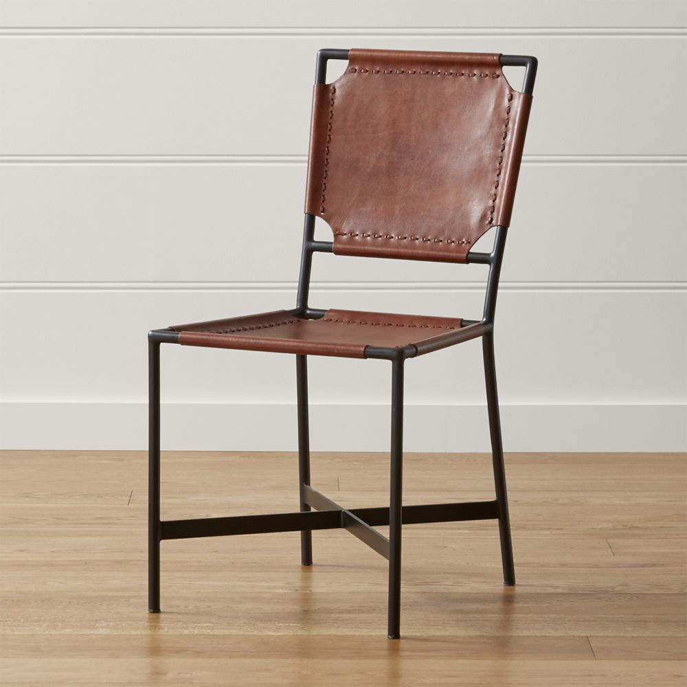 Laredo Brown Leather Dining Chair Products Pinterest Leather