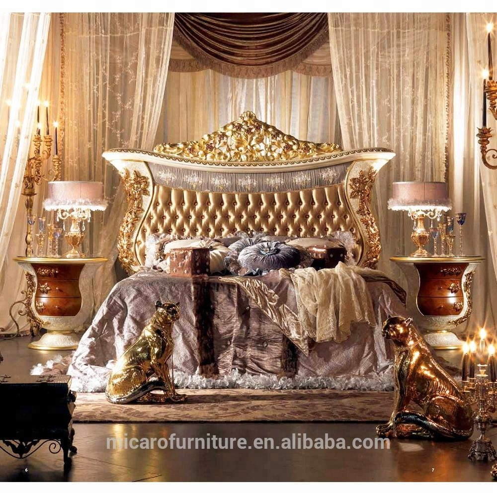 Latest Italian Royal Baroque Style Classic Luxury Wood Carving