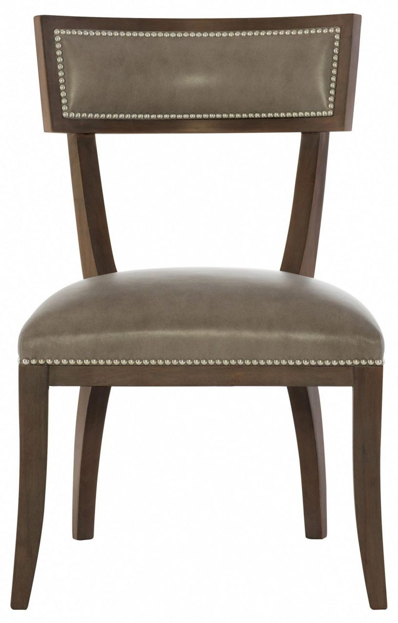 Leather Dining Side Chair Bernhardt Cocoa Finish