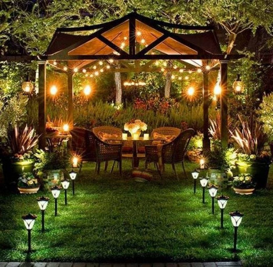 Led Patio Lanterns Backyard Lamps Outside Decorative Lights Garden
