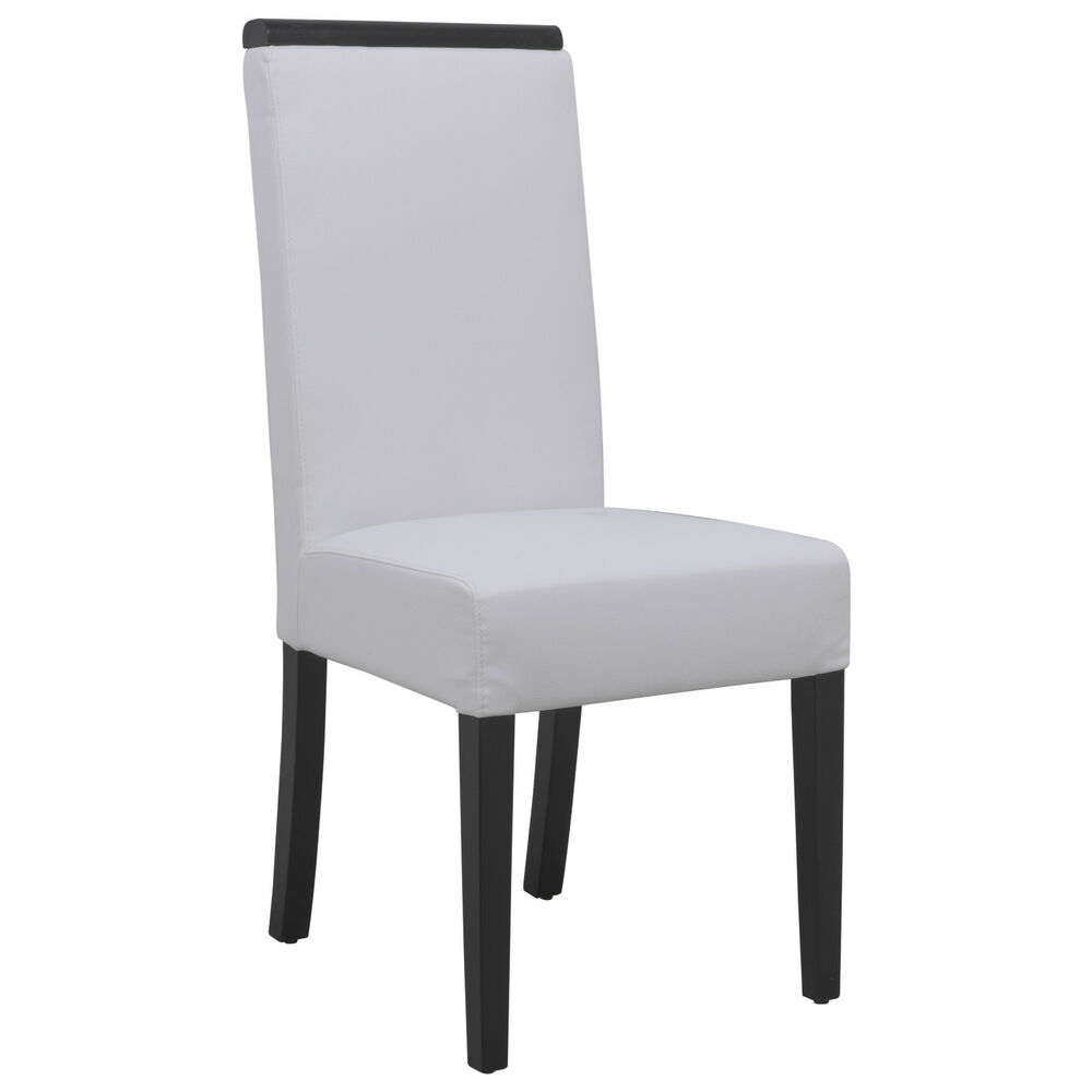 Leisuremod Elroy Modern High Quality Leather Dining Side Chair In