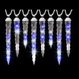Lightshow 8 Light Icy Bluewhite Shooting Star Varied Size Icicle