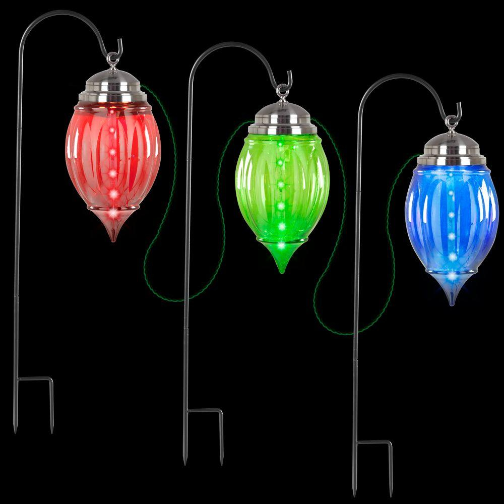 Lightshow Multi Color Shooting Star Pathway Ornament Stakes Set Of