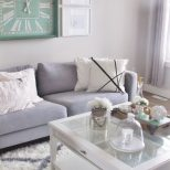 Living Room Interior Design White Black Gold Sea Foam Green