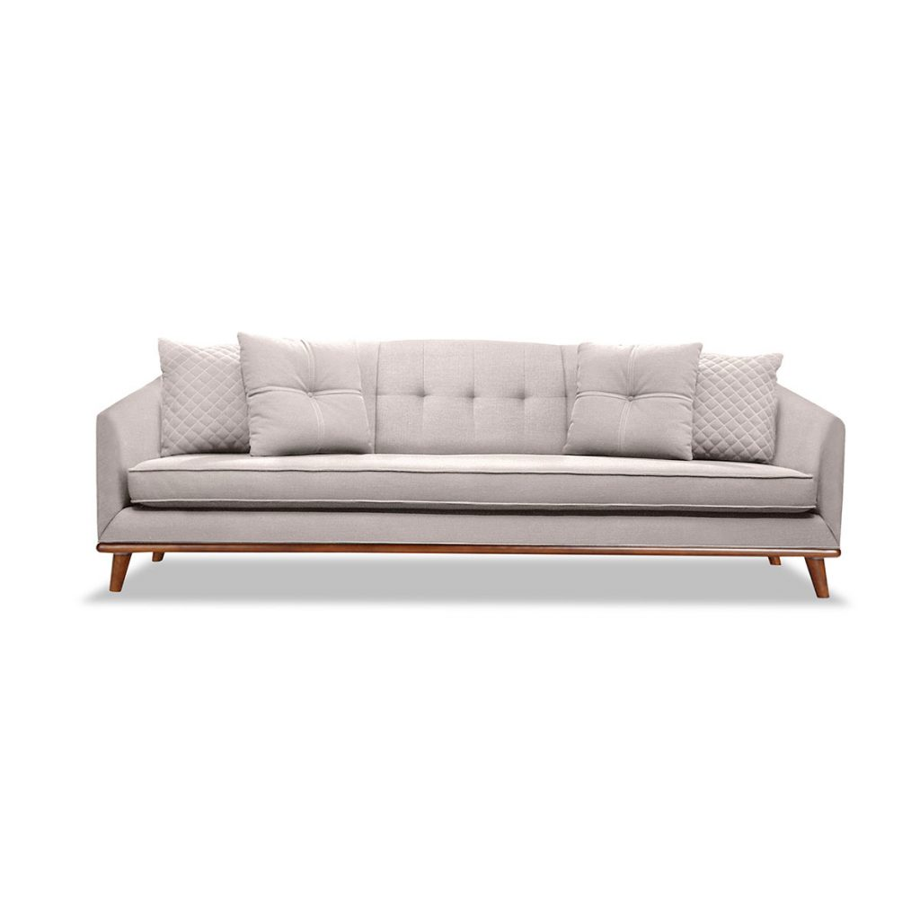 Lois Tufted Linen Sofa South Cone Home Furniture