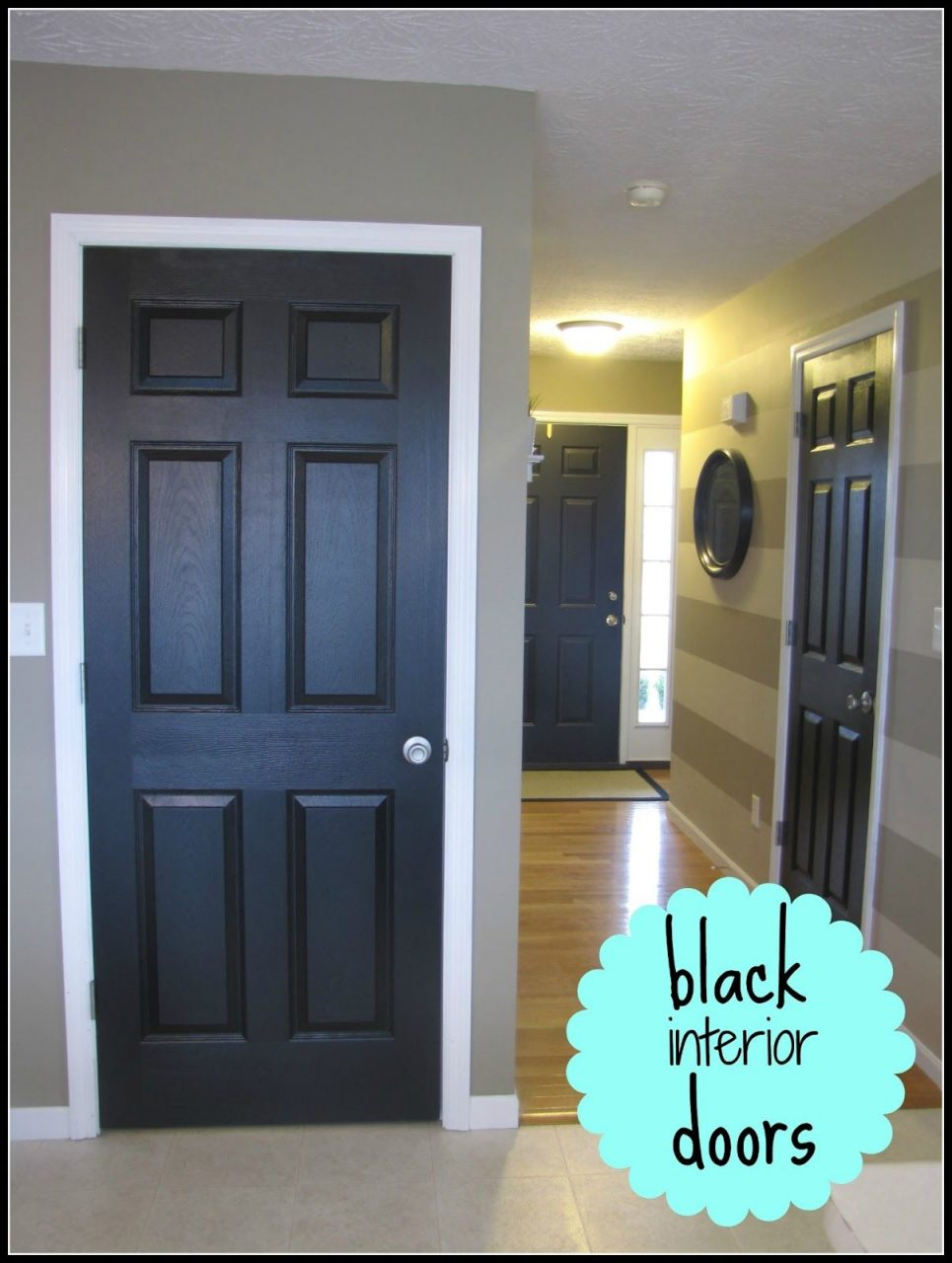 Love This Look Black Painted Interior Doorsplus A Neat Hint On