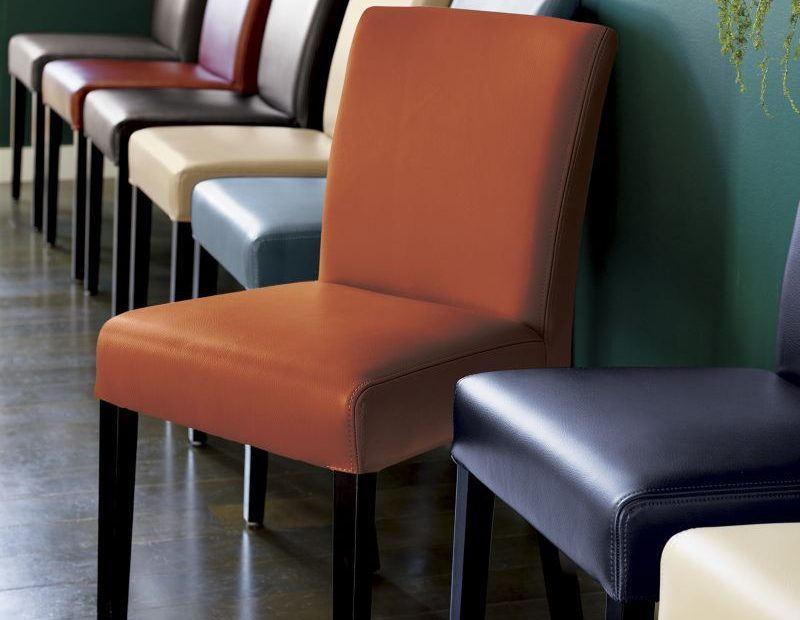 Lowe Chocolate Leather Dining Chair Products