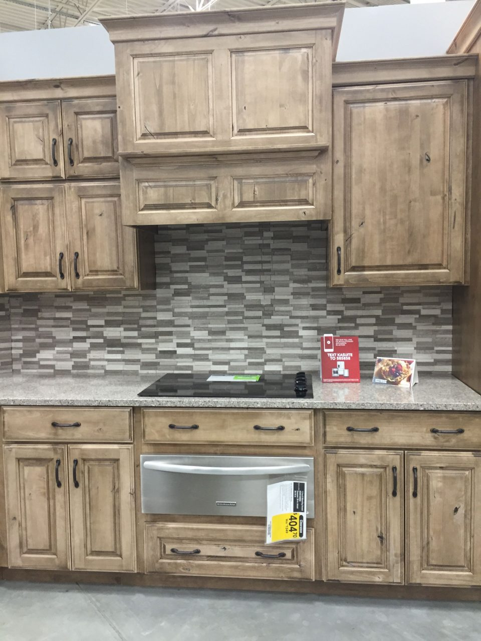 Lowes Schuler Cabinetry Knotty Alder Cappuccino Kitchens Kitchen